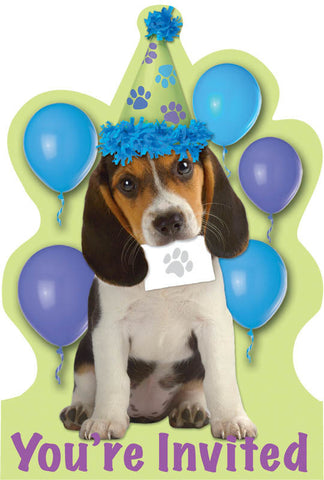 Party Pups Invitations 8ct.