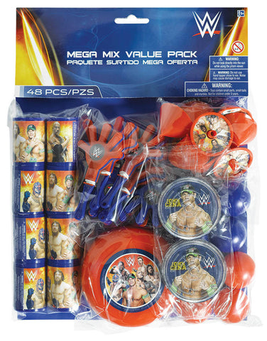WWE Party Mega Mix Value Pack 48pc