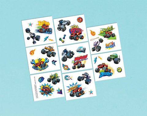 Blaze and the Monster Machines Tattoo Favors