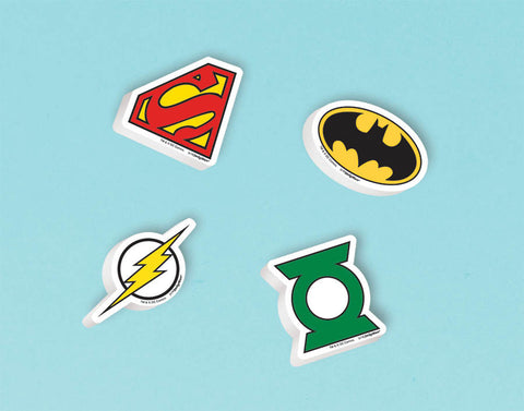 Justice League Eraser Favors 12ct.