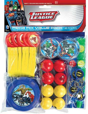 Justice League Mega Mix Value Pack Favors 48pc.