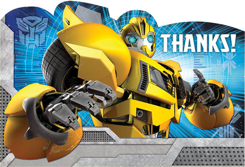 Transformers Postcard Thank You Cards 8ct.