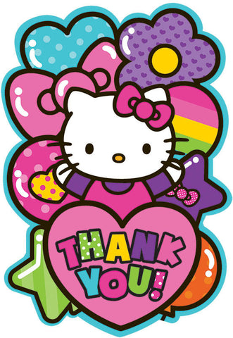 Hello Kitty Rainbow Postcard Thank You Cards 8ct.