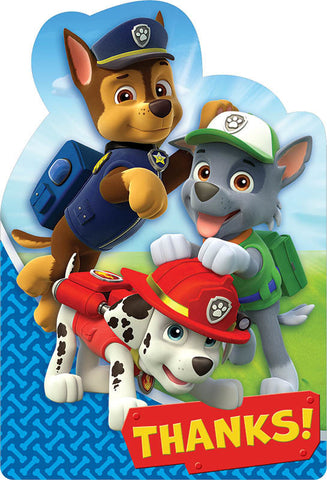 Paw Patrol Postcard Thank You
