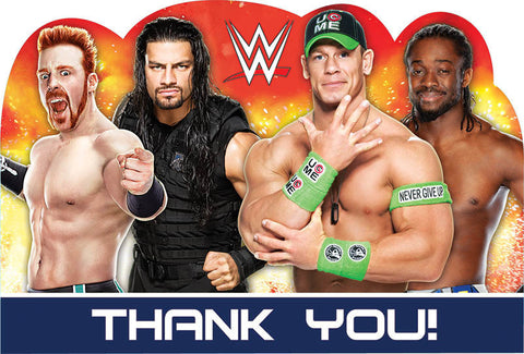 WWE Party Postcard Thank You 8ct.