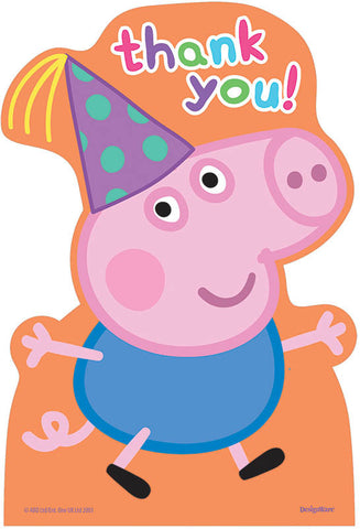 Peppa Pig Postcard Thank You Cards 8ct.