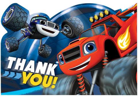 Blaze and the Monster Machines Postcard Thank You Cards