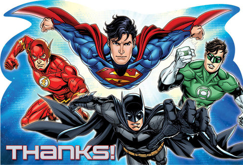 Justice League Postcard Thank You Cards 8ct.
