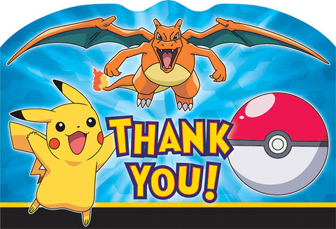 Pikachu and Friends Postcard Thank You Cards 8ct.