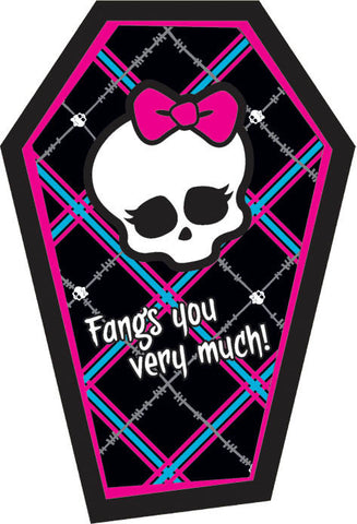 Monster High Thank You Notes 8ct.