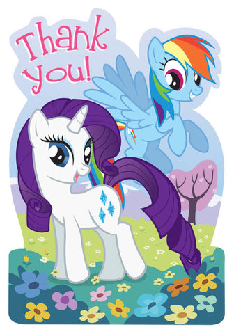 My Little Pony Friendship Postcard Thank You Cards 8ct.