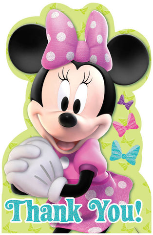 Disney Minnie Mouse Postcard Thank You Cards 8ct.