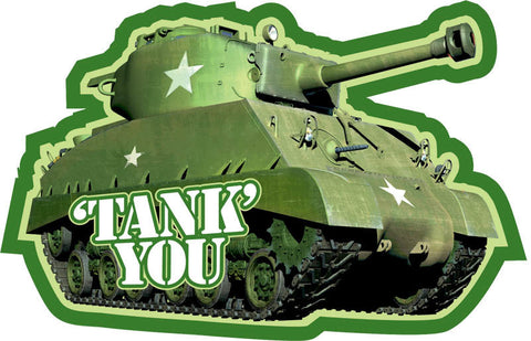 Camouflage Tank Thank You Notes 8ct.
