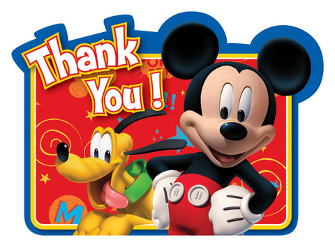 Disney Mickey Mouse Thank You Notes 8ct.