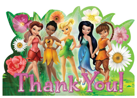 Disney Tinkerbell and The Fairies Thank You Notes 8ct.