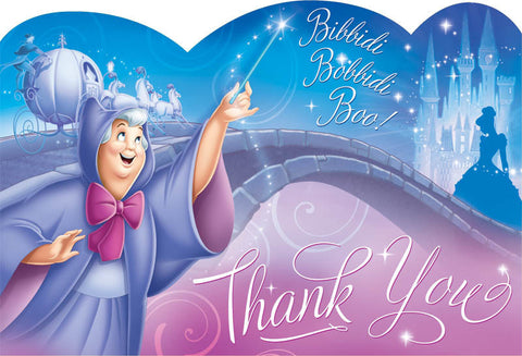 Disney Cinderella Postcard Thank You Cards 8ct.