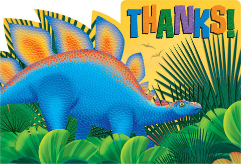 Prehistoric Dinosaurs Thank You Notes 8ct.