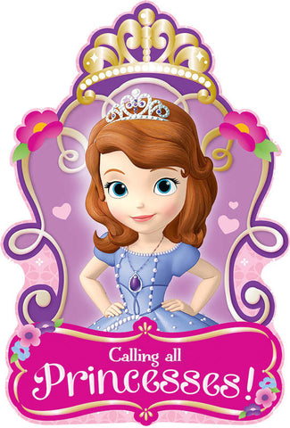 Disney Sofia The First Invitations 8ct.