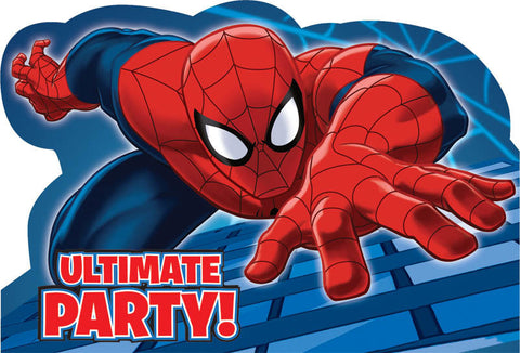 Spider-Man Invitations 8ct.