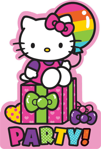 Hello Kitty Rainbow Invitations 8ct.