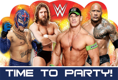 WWE Party Postcard Invites 8ct.