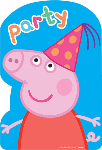 Peppa Pig Postcard Invitations 8ct.