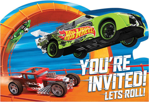 Hot Wheels Wild Racer Postcard Invitations 8ct.