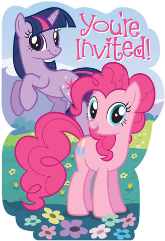 My Little Pony Friendship Invitations 8ct.