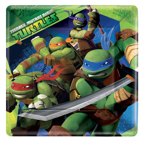 "Teenage Mutant Ninja Turtles Square 9"" Plates 8ct."