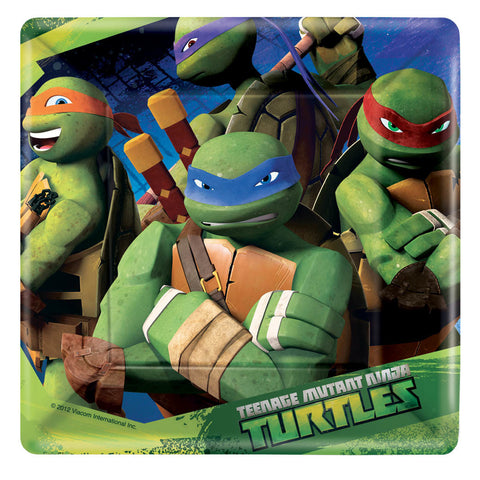 "Teenage Mutant Ninja Turtles Square 7"" Plates 8ct."