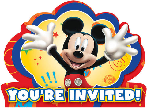 Disney Mickey Mouse Invitations 8ct.