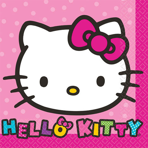 Hello Kitty Rainbow Beverage Napkins 16ct.