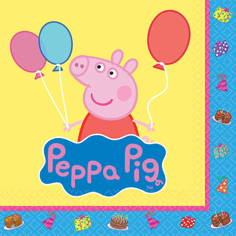 Peppa Pig Beverage Napkins 16ct.
