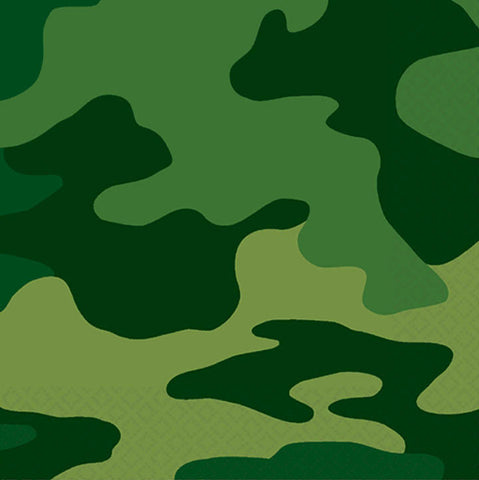 Camouflage Beverage Napkins 16ct