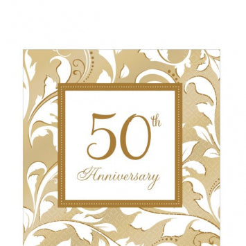 50th Anniversary Lunch Napkins 16ct.