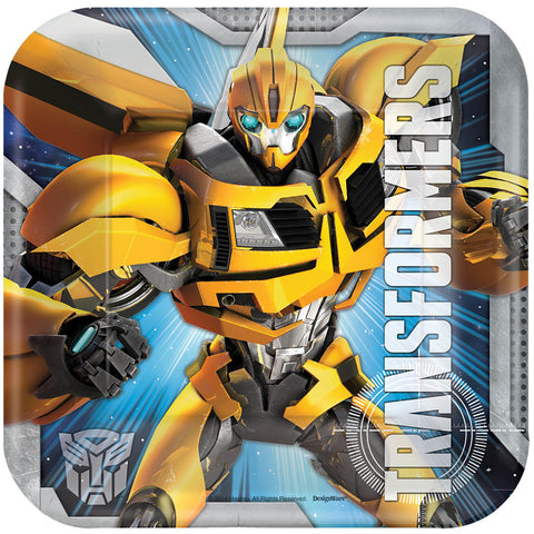 "Transformers 7"" Square Plates 8ct."