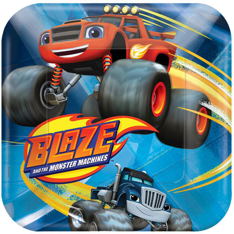 Blaze and the Monster Machines Square Plates, 7""