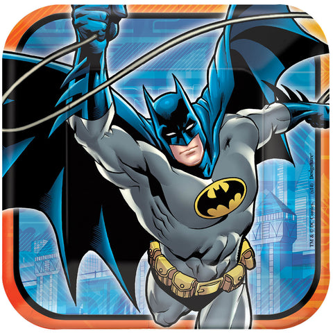 "Batman 9"" Square Plates 8ct."