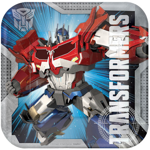 "Transformers 9"" Square Plates 8ct."