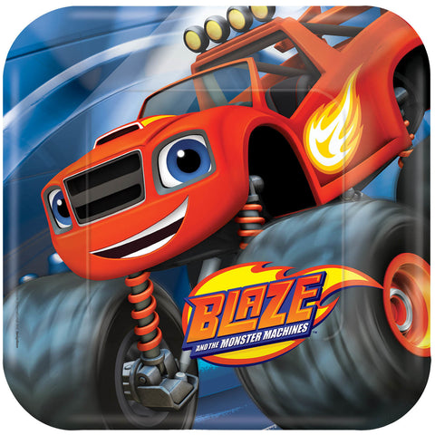Blaze and the Monster Machines Square Plates, 9""