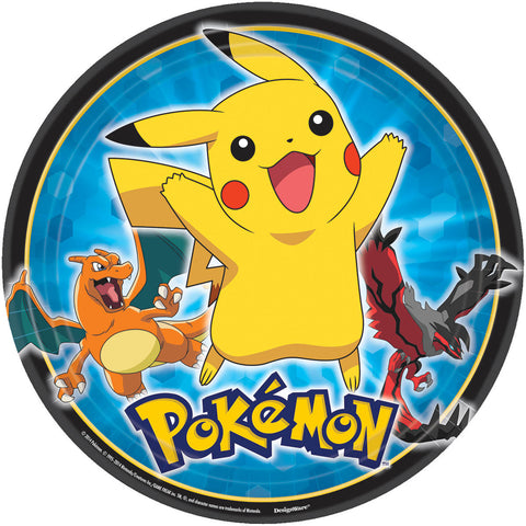 "Pikachu and Friends 9"" Round Plates 8ct."