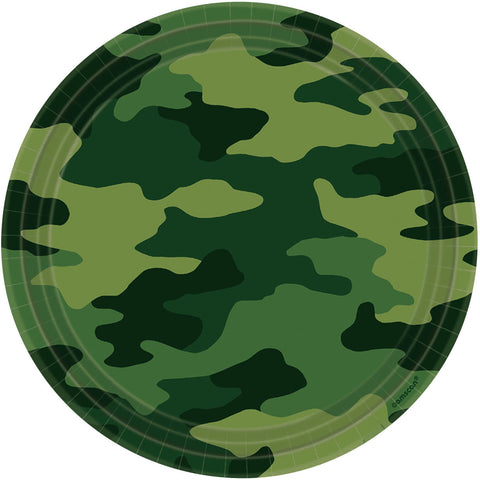 Camouflage Lunch Plates 8ct.