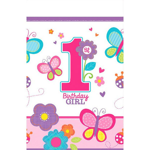 Sweet Birthday Girl Plastic Table Cover
