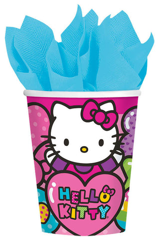Hello Kitty Rainbow 9 oz. Cups