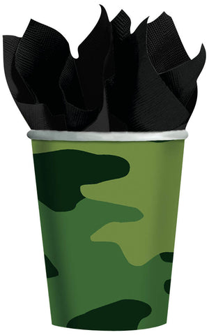 Camouflage Cups 8ct 9oz.