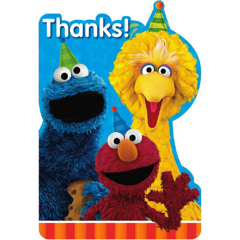 Sesame Street Postcard Thank You Cards 8ct.