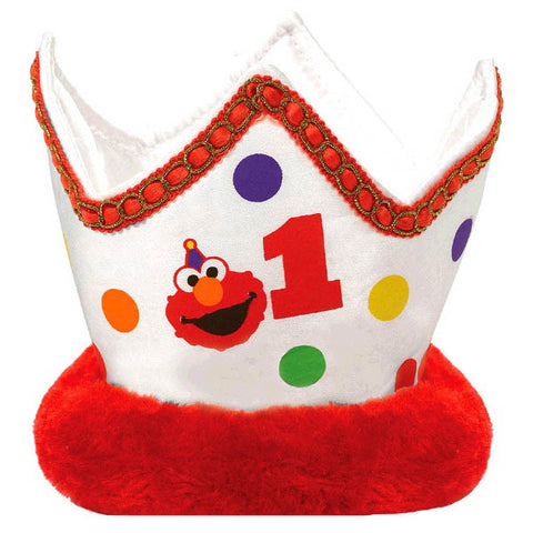 Elmo Turns One Novelty Crown