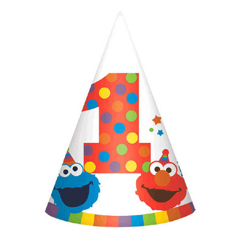 Elmo Turns One Paper Cone Hats 8ct.