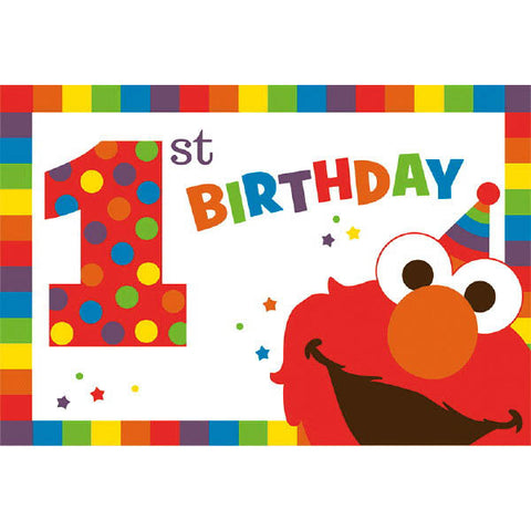 Elmo Turns One Postcard Invitations 8ct.