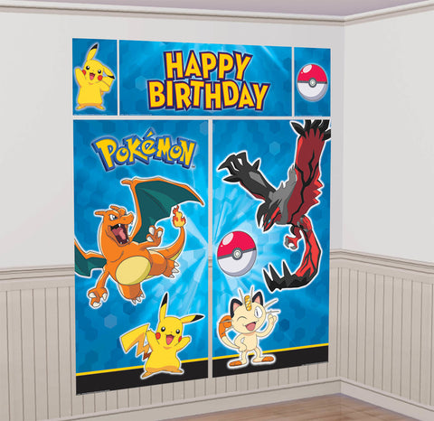 Pikachu and Friends Scene Setters Wall Decorating Kit